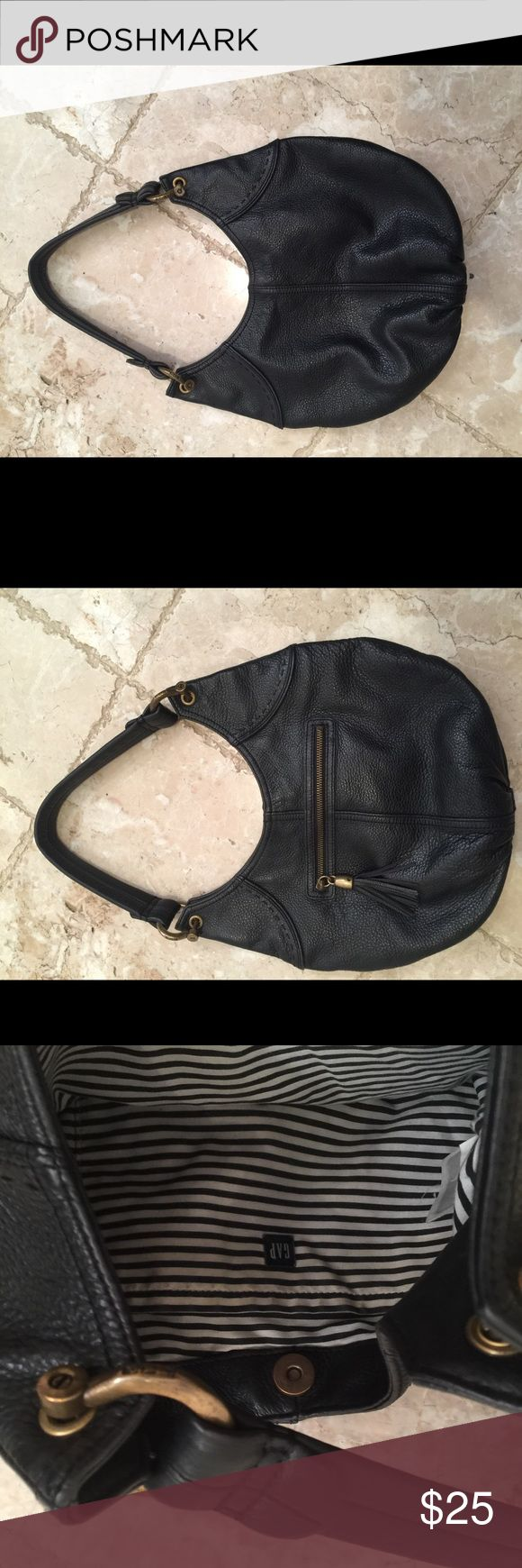 Gap handbag Black leather Gap hand bag. Great condition. GAP Bags Shoulder Bags