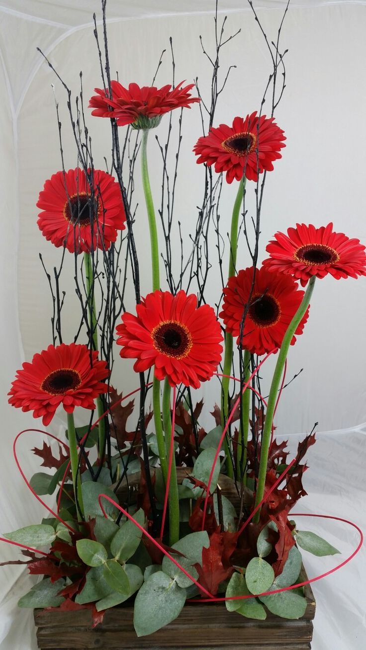 A Remembrance Day design. The gerberas symbolise the red ...