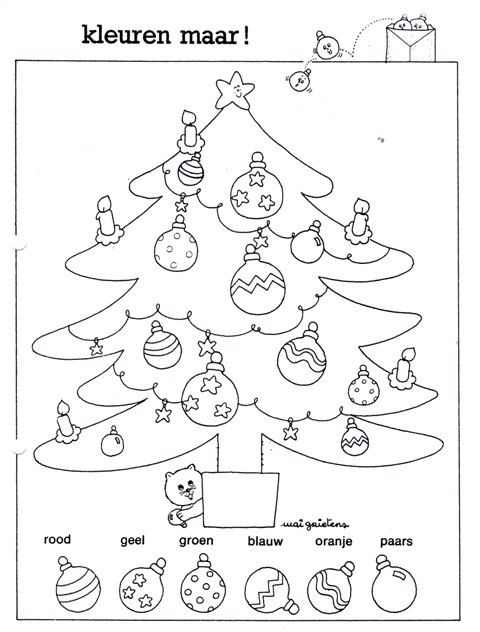 Christmas tree - Kleuropdracht Juf Joyce |Pinned from PinTo for iPad|