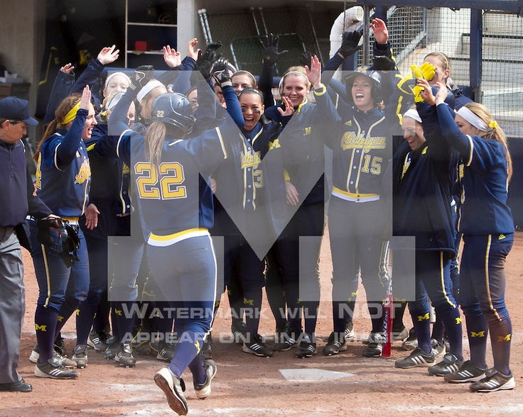 The University of Michigan softball team beat Ohio State, 11-0 in 5 innings, at the Wilpon Complex in Ann Arbor, Mich., on April 6, 2013.