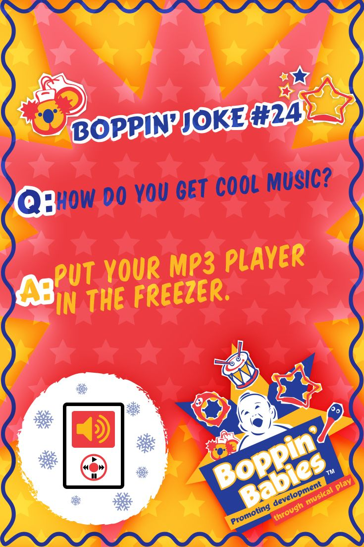 How do you get cool music? Put your MP3 player in the freezer. #FridayFunny