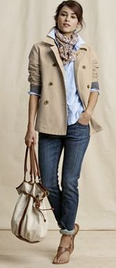 Cute, I like the jacket sleeves pushed up and the shirt cuff to hold it up.