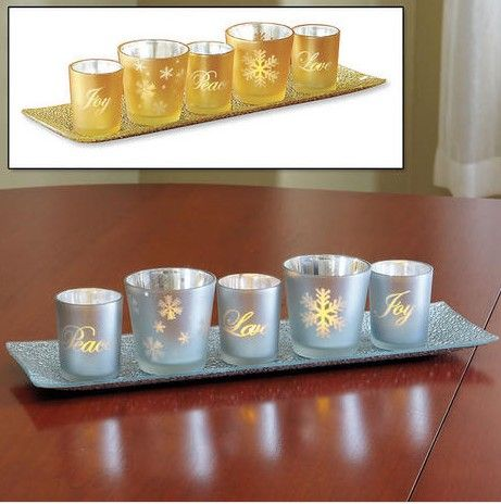 Gold LED Holiday Candlescape from Lillian Vernon. Get your rebate from RebateGiant.