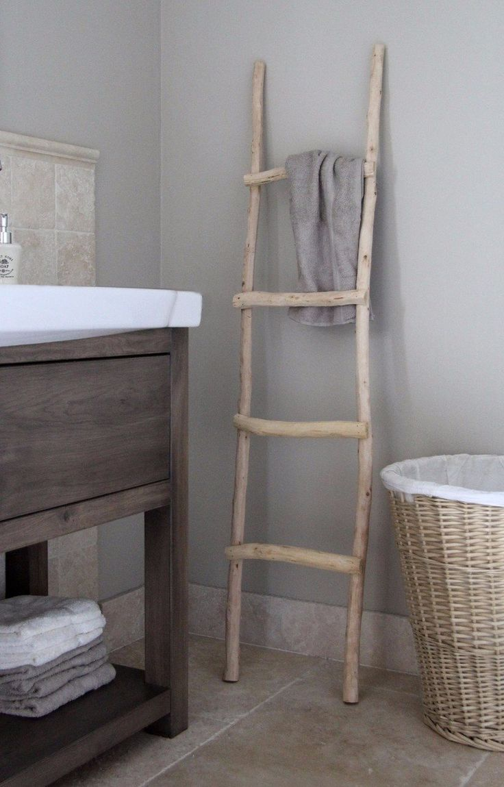 Houten ladder. Decoratie ladder  www.decoratietakken.nl