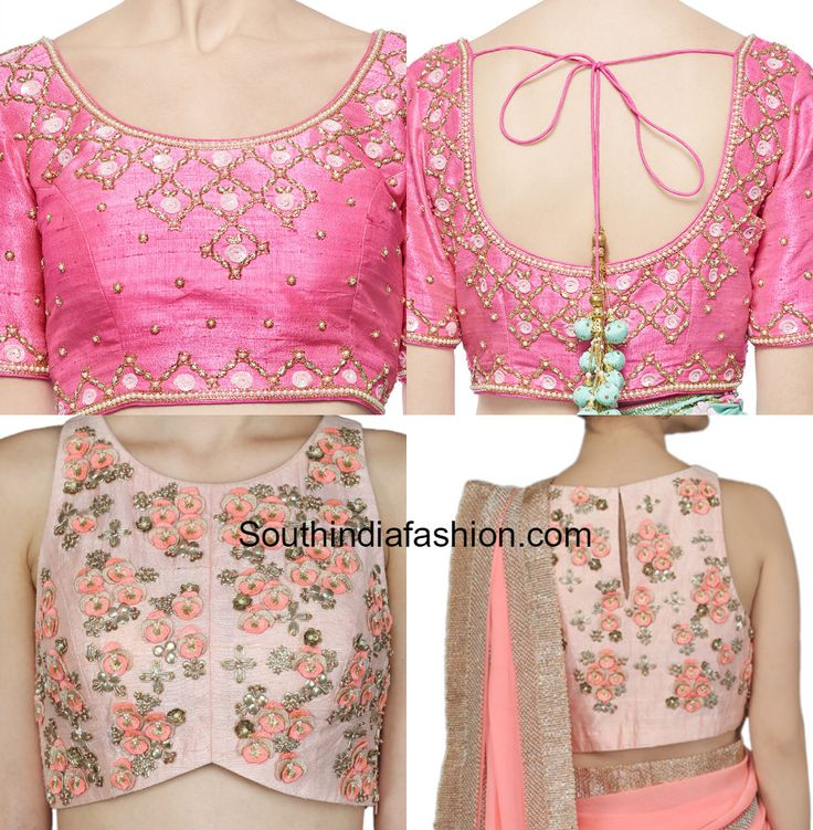 Embroidered Blouse Designs for Sarees photo