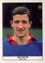 Ron Fenton of Brentford in 1968.