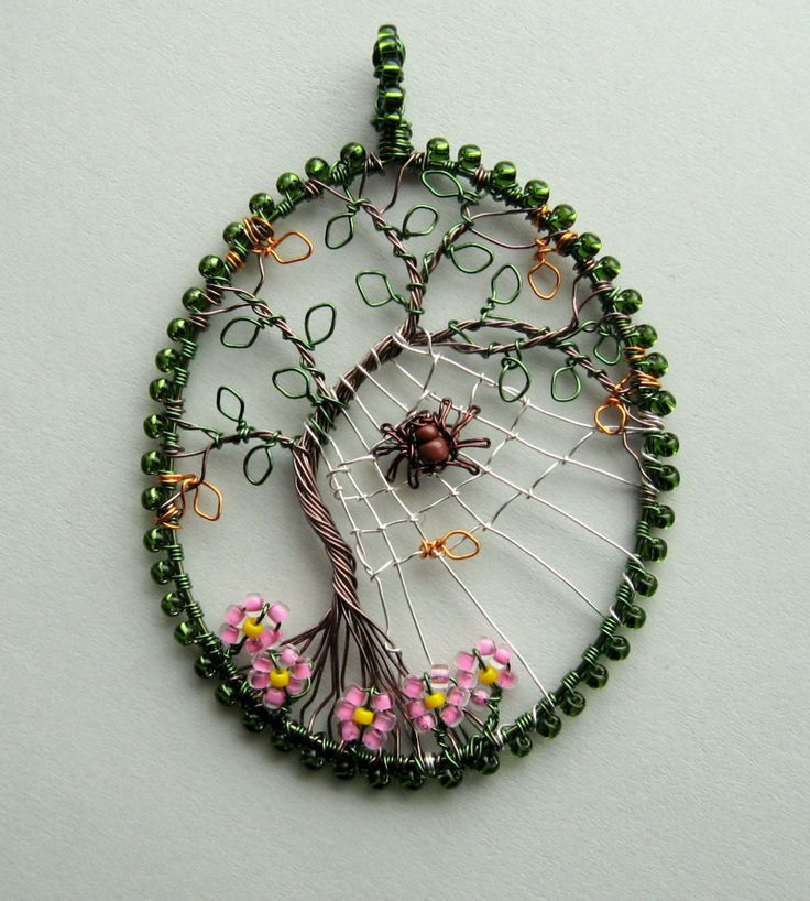 The Last Day of Summer wire wrapped tree of life pendant