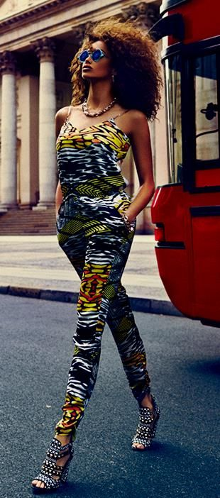 Scrappy African jumpsuit