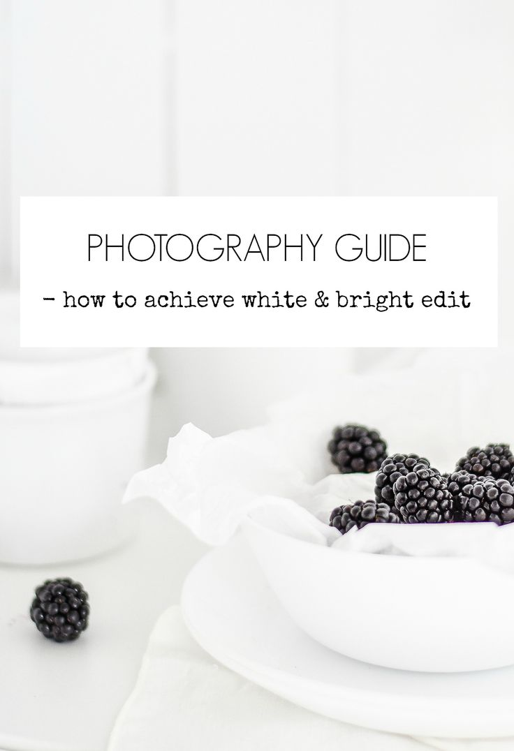 How to achieve white and bright photo edit in Lightroom?