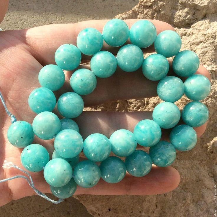 Купить Амазонит 12 мм шар гладкий насыщенный природный цвет - бусины амазонит камни