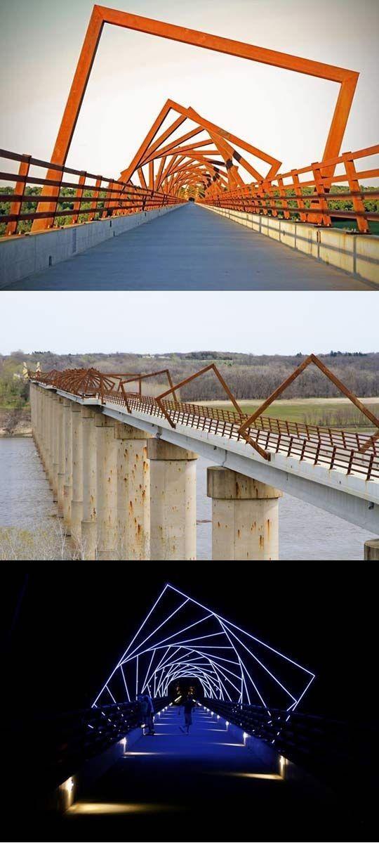 High Trestle Trail Bridge near Des Moines, Iowa