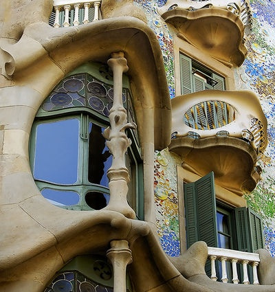 Antonio Gaudi's Casa Batillo in Spain.  Oh, how I'd love to see it in person!