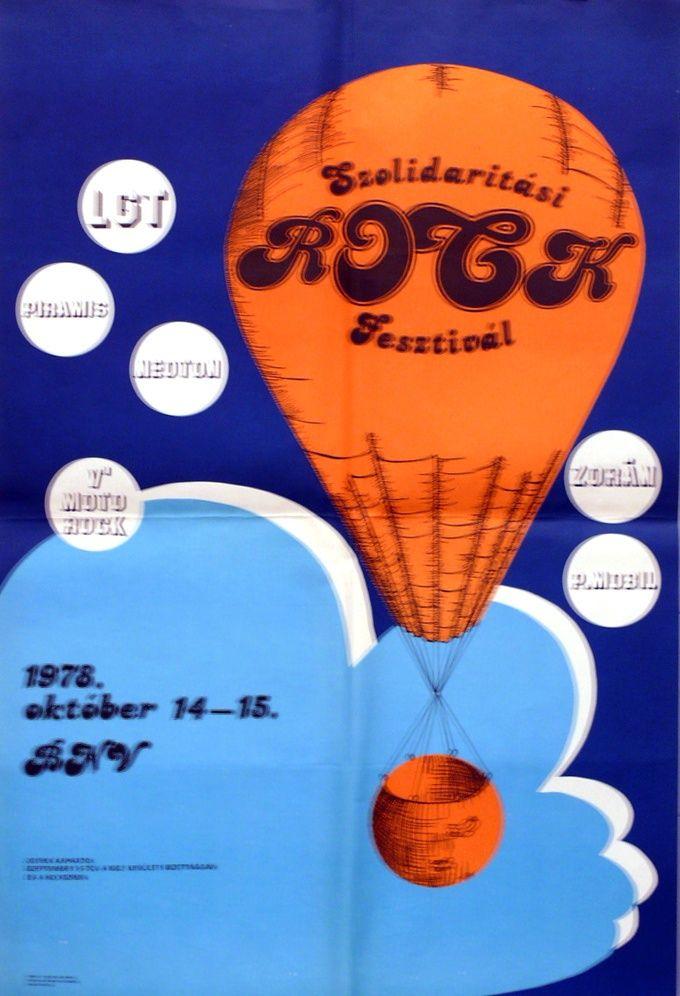 Kerék Antal (graf.) - Szolidaritási ROCK Fesztivál. 1978. október. - Múzeum Antikvárium