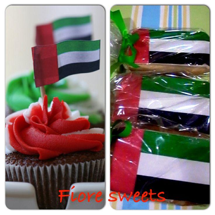 UAE national day cupcake & cookies