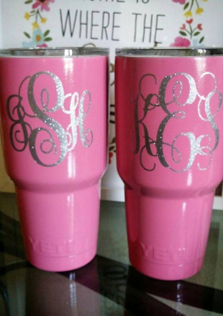 LOVE these pink YETI tumblers!!