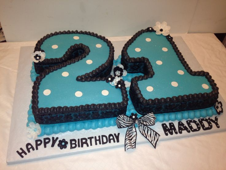 Cake Decoration For 21st Birthday : 21st birthday cake Decorating and baking Pinterest