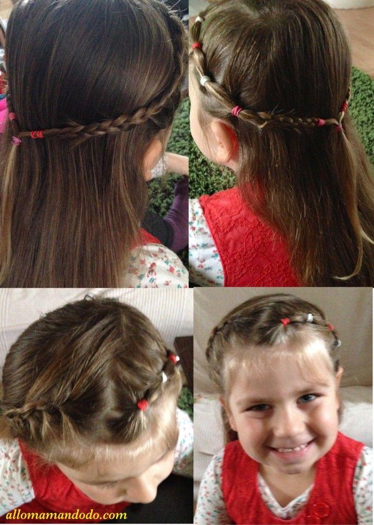 coiffure double tresses loom elastiques braids