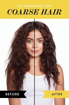 Check out the before and afters of co washing your course hair! It's the no poo answer to ALL of your hair prayers.