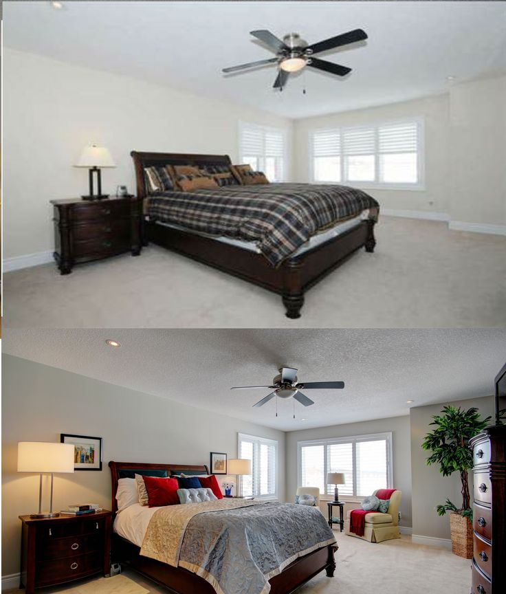 63 best before and after home staging images on pinterest gta home staging and bedroom suites Master bedroom home staging