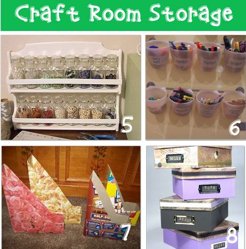 craft storage ideas- love the open spice rack- great for buttons or