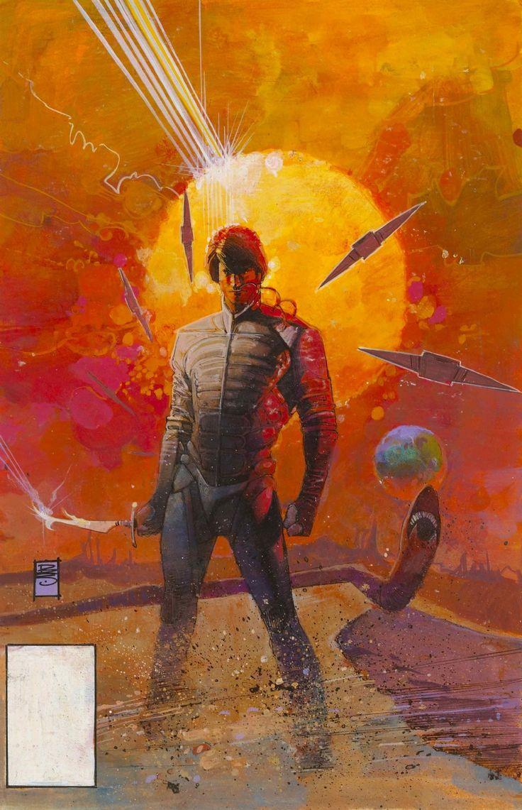 the original artwork to Marvel Comics Dune movie adaptation circa 1984 illustration by Bill Sienkiewicz :: viacomicartfans.com/