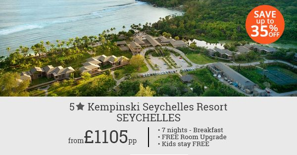Experience the royal luxury treatment in Seychelles with our 7 night holiday package at affordable rates. Save up to 35% on your bookings.