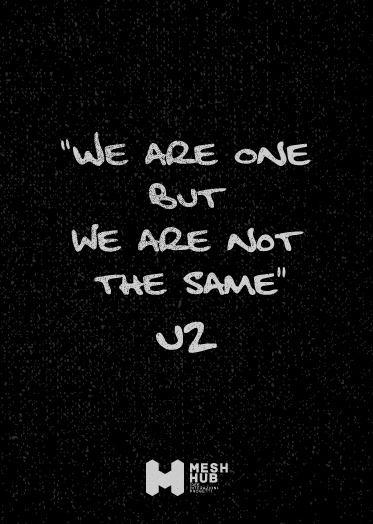 U2 – one #meshhub #ideeinterazioniprogetti #rete #costruttoridiponti #hub #community #together