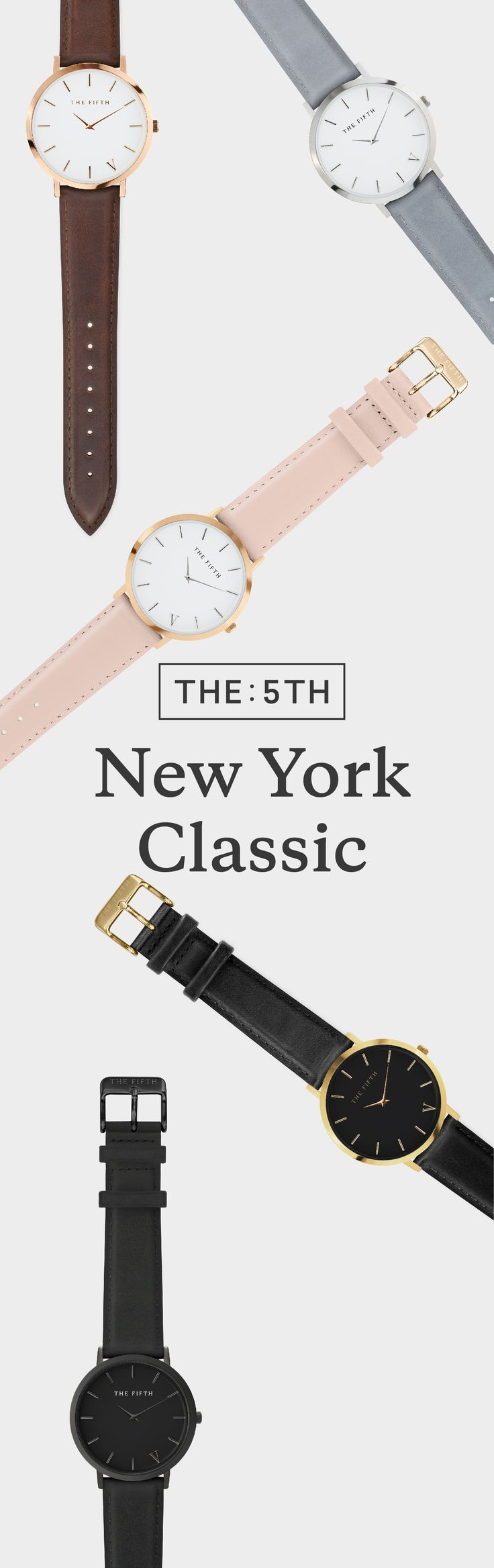 One watch, two looks. Each watch from the New York range comes with an additional strap. That's two looks, for the price of one. Exclusively available once a month, for a limited 5 days only. Sign up today to ensure you don't miss out on the 5th next month. See more at www.the5th.co. Sign up to join the waitlist.