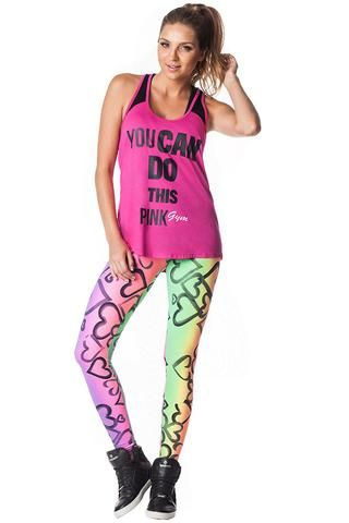 Pink Gym Heart Leggings