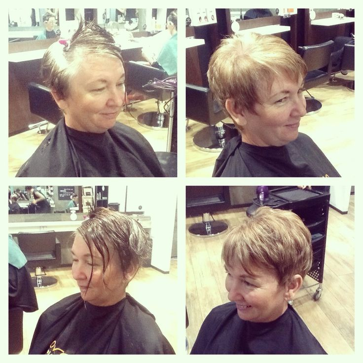 Transition from all over grey coverage to foils dispersed for a more natural coverage.