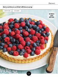 Waitrose Food June 2016: Berry and lemon curd tart with lemon syrup