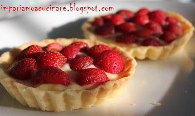 Io cucino, tu cucini: Crostatine con crema pasticcera e fragole