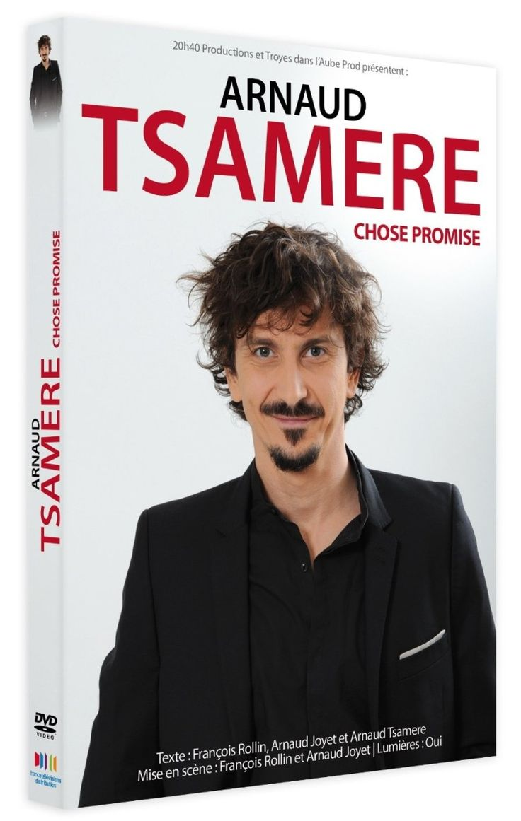 "Arnaud Tsamere ""Chose promise"" en dvd/blu-ray"
