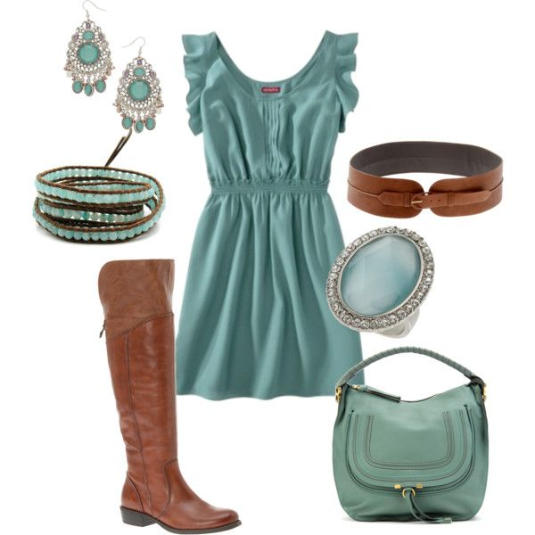 Outfit: Cowboys Boots Teal Outfits, Cowgirl Boots, Country Dresses Outfits, Cowgirl Outfits With Jeans, Fashion Style, Blue Green, Sandl Outfits, The Dress, Dresses Target