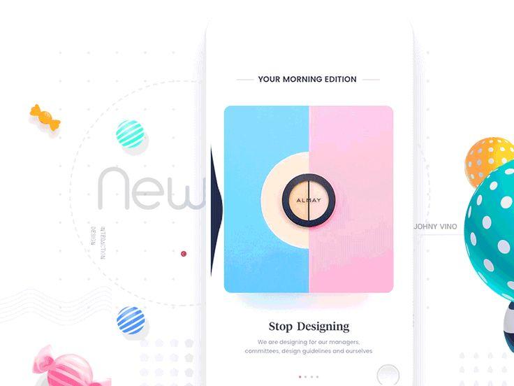 Designers News app by Johny vino™
