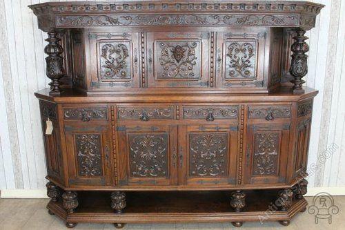 ~ 1920's Oak Court Cupboard ~ antiques-atlas.com