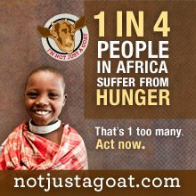 Become an advocate for African food security today! Pledge your solidarity with the African community and then give a goat to an African family in need.