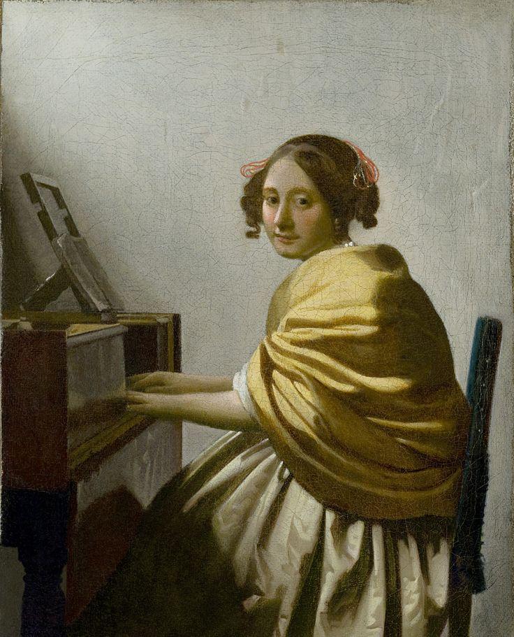 Молодая женщина за виржиналом Ян Вермеер 1672,
