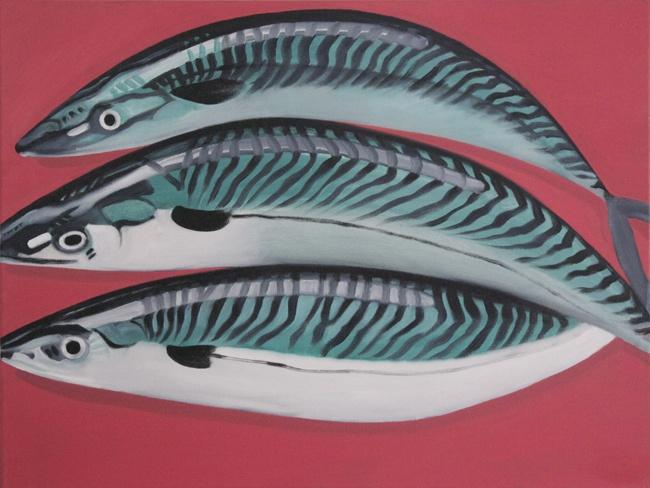 'Mackerel' 45x60cms oil on canvas