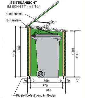 Die 25+ Besten Ideen Zu Selber Machen Mülltonnenbox Auf Pinterest ... Muelltonnenbox Selber Bauen Ideen Gestaltung