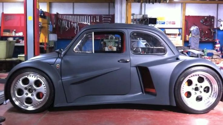 A modified FIAT 500 with a 580 hp 6.2-liter V12 from a Lamborghini Murcielago. The car is handmade by Oemmedi Meccanica, a specialized workshop in Acquapendente, Italy.