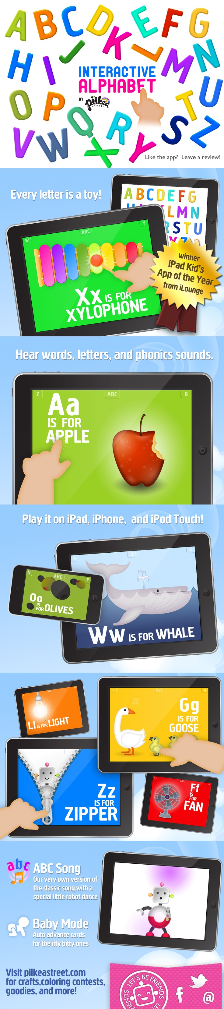 """Pin to #win Pi'ikea Street's Interactive Alphabet #app. Send us a tweet or email the link of your pin to pinterest@piikeastreet.com with subject line of """"Pin it to win it."""" See board description for full details: http://pinterest.com/piikeastreet/pin-it-to-win-it/ #piikeastreet"""