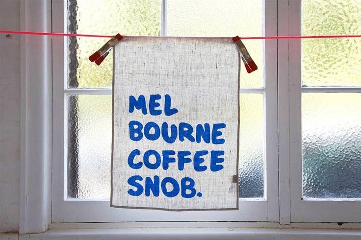 iconic coffee snob tea towel - Make Me Iconic - Product Showroom 2016