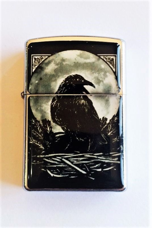 Black Moon and Crow Flip Lighter Torch Lighter Musician Lighter Gift For Her