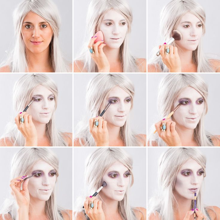 Follow this step-by-step tutorial for spooky ghost makeup.