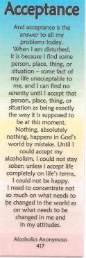 Acceptance Prayer AA | Serenity Prayer Bookmark