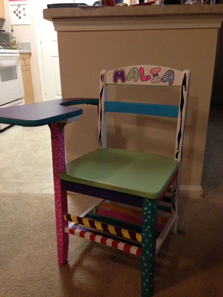 18 best images about painted school desk on pinterest for School furniture