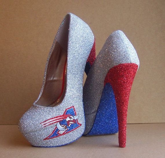 Montreal Alouettes High Heels by TattooedMary on Etsy, $120.00