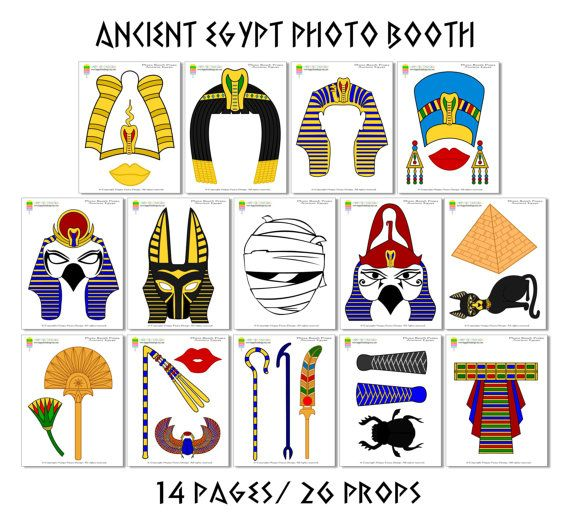 PRINTABLE Ancient Egypt Photo Booth by HappyFiestaDesign on Etsy