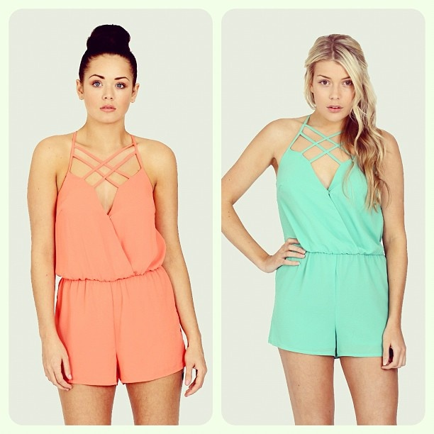 The 'Candy' Cross Over Playsuit